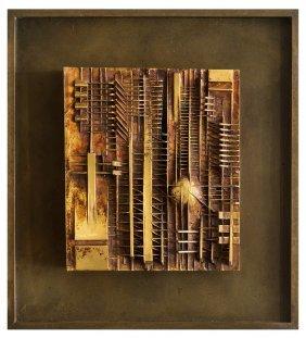 Arnaldo Pomodoro, Untitled (bas Relief)