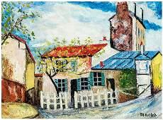 Elisee Maclet, Village Scene