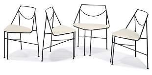Arthur Umanoff, Wrought iron dining set (5)