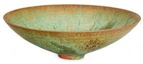 Gertrud & Otto Natzler, Patina Mat Glazed Conical Bowl
