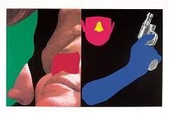 John Baldessari, Noses & Ears, Etc.: Couple...