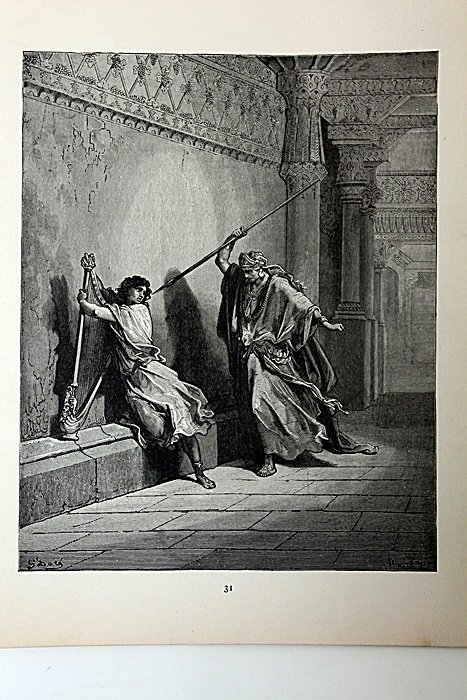 """The Dore Bible Gallery """"Saul and David""""  Pg. 31"""