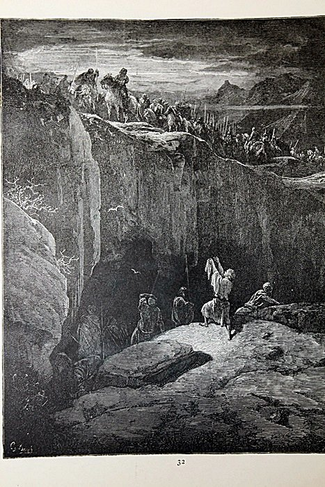 """The Dore Bible Gallery """"David Spares Saul"""" Pg. 32"""