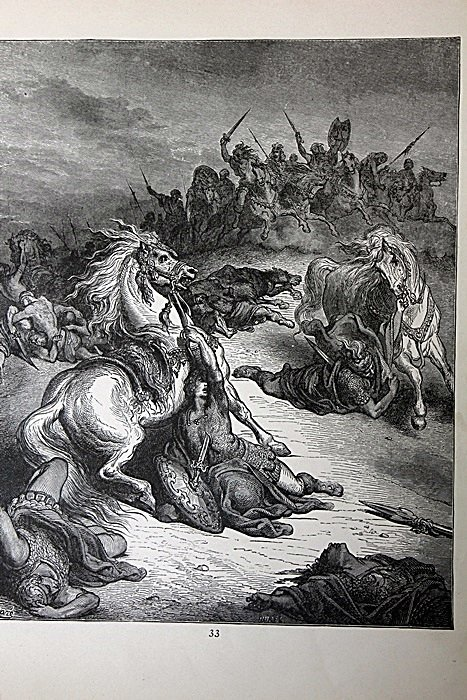 """The Dore Bible Gallery """"Death of Saul"""" Pg.33"""