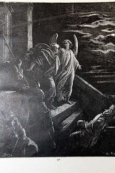 """The Dore Bible Gallery """"Deliverance of St. Peter"""" Pg.96"""
