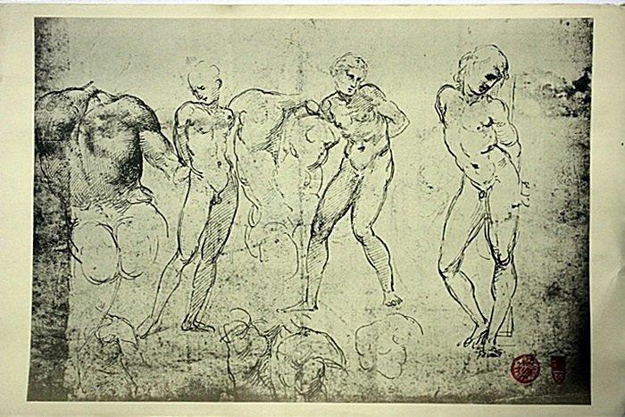 Original Museum stamped Etchings and Drawings