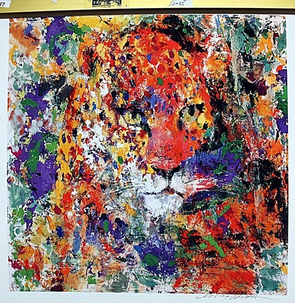 Colorful Panther Lithograph signed by Neiman AR230