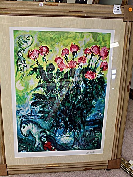 CHAGALL ORIGINAL LITHIOGRAPH SIGNED AR5101