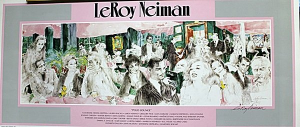 """Polo Lounge""  Double Signed By LeRoy Neiman AR4316"