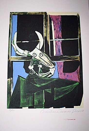 Limited Edition Picasso - Bullhead with Still Life -