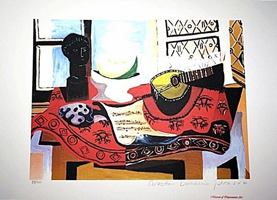 Limited Edition Picasso - Still Life with Mandolin -