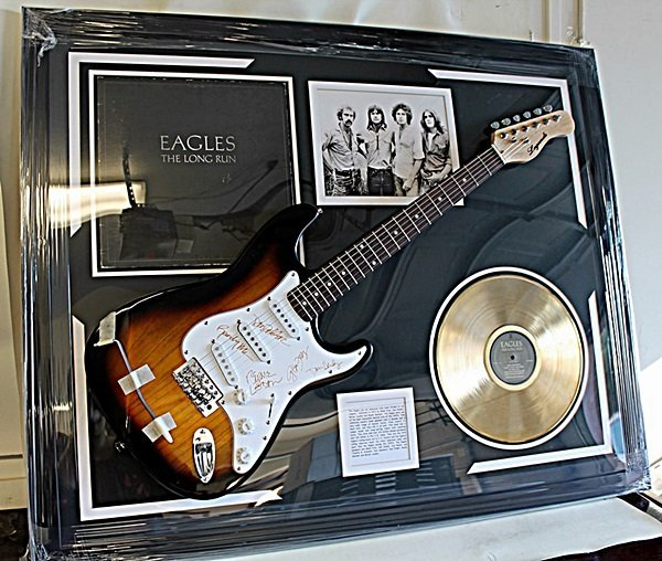 Cherished The Eagles Autographed Guitar with Album and