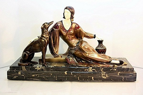 Desmona - Bronze and Ivory by Chiparus AFTER