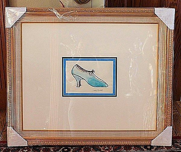 Andy Warhol original watercolor shoe