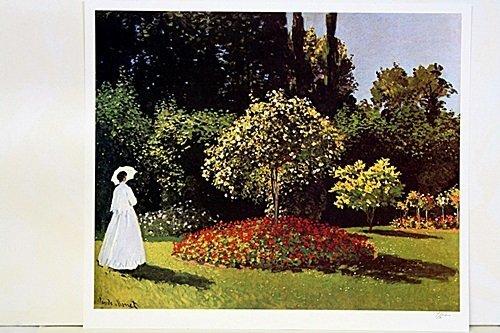 Jeanne-Marguerite Lecadre in the Garden by Monet