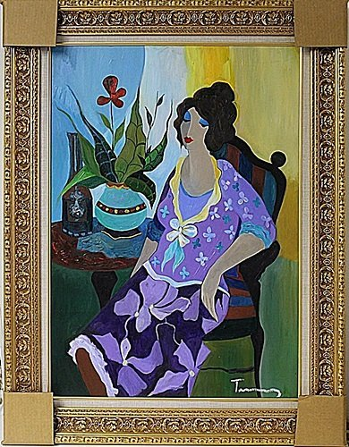 """""""Violet with Flowers"""" by Tarkay"""