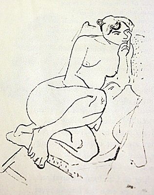 EXTREMELY RARE ORIGINAL LITHOGRAPH BY ARTIST HENRI