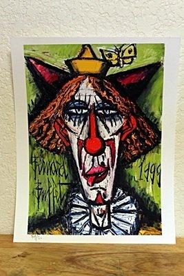 """""""Red Head Clown"""" By Bernard Buffet."""