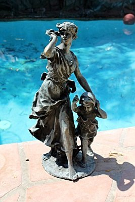 Large Bronze Sculpture- Lady and Child by Moreau