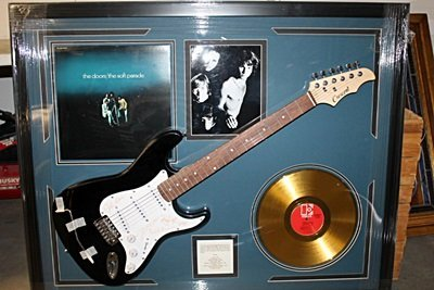 The Doors Signed Guitar with Bio, Photo and Gold