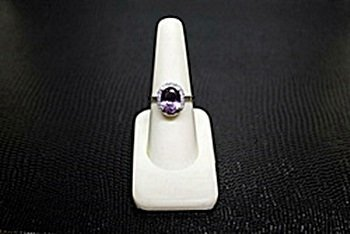 """Very Fancy  White Gold over Silver """"Oval"""" Shape"""