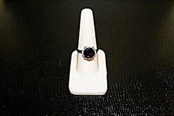 Lady's Fancy  White Gold over Silver Garnet & Diamond