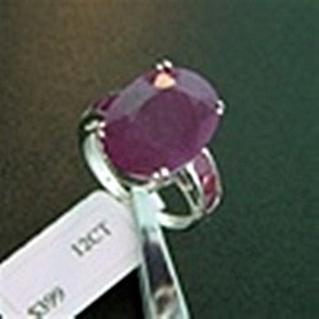 Genuine Ruby Sterling Silver Ring