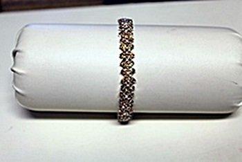 Lady's Golden Sapphire Bracelet