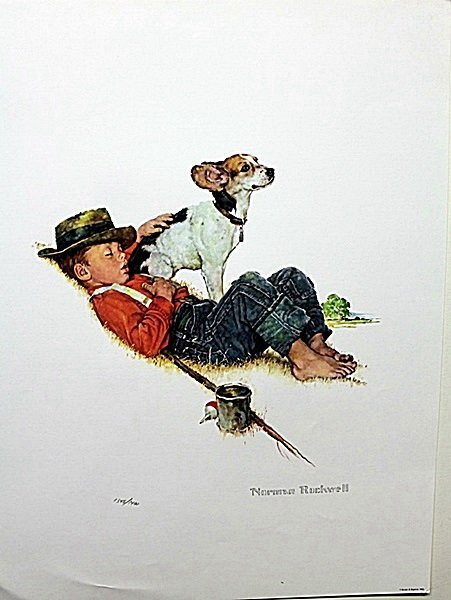 """""""Puppy Love Suite"""" plate signed by Rockwell AR3134"""
