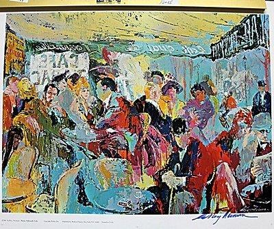 """Sidewalk Café"" Double Signed By LeRoy Neiman AR223"