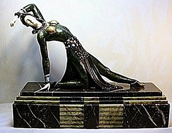 Exotic Dancer - Bronze and Ivory Sculpture by Chiparus