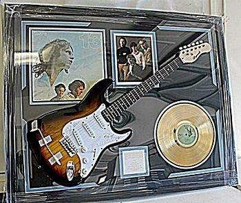 Rare Priceless Doors Autographed Doors Guitar with Gold