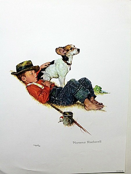 """Puppy Love Suite"" plate signed by Rockwell AR3134"