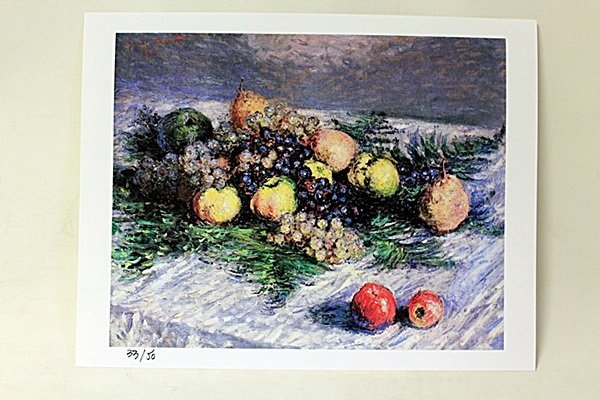 """Still Life With Pears And Grapes"" By artist Monet."