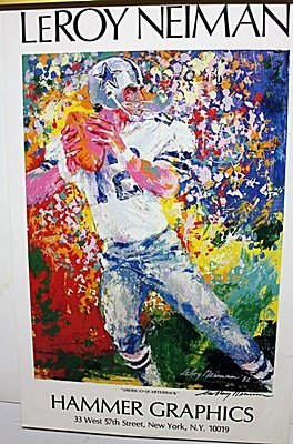 """""""America's Quarterback """"Double Signed By LeRoy Neiman"""