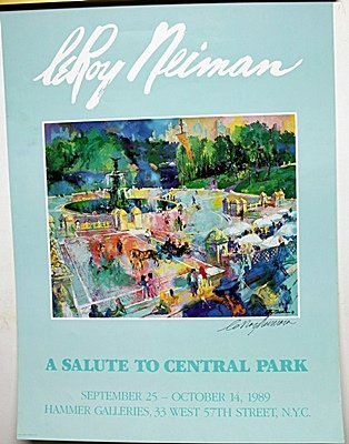 """""""A Salute To Central Park"""" Double Signed By LeRoy"""