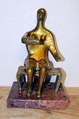 Henry Moore  Original,    Gold limited Edition  Bronze