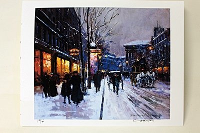 "Limited Edition "" Boulevard de la Madeleine, Winter I"""
