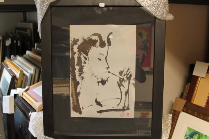 Framed Picasso-Untitled Lithograph (7BO)