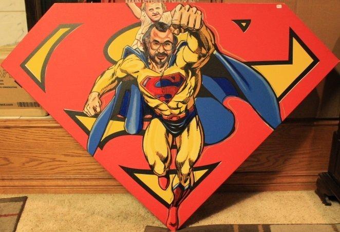 Superman-Original Oil on Canvas
