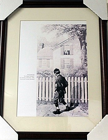 Framed Norman Rockwell-The Magic Football