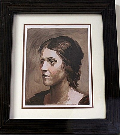 Framed Pablo Picasso-Olga Lithograph