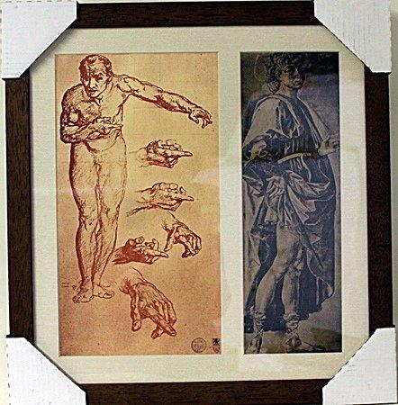 Framed 2-in-1 Engravings