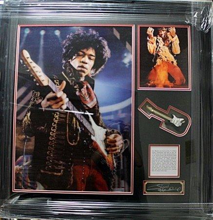 Framed Jimi Hendrix Memorabilia (44CO)