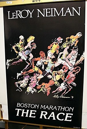 Boston Marathon Race Signed By LeRoy Neiman AR4348