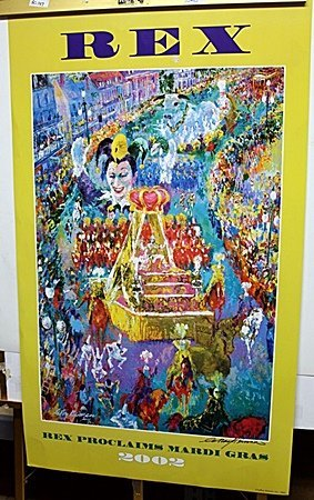 """""""Rex Proclaims Mardi Gras"""" Double Signed By LeRoy"""