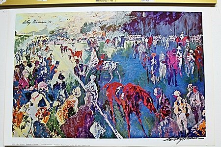 The Racetrack Double Signed By LeRoy Neiman AR218