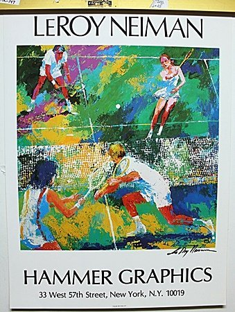 Tennis Double Signed By LeRoy Neiman AR226