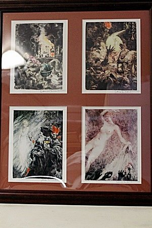 Framed 4-in-1 Louis Icart Lithographs