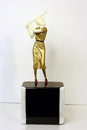 The Golfer - Bronze and Ivory Sculpture by  Chiparus